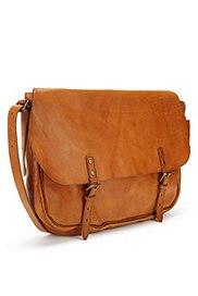 Leather Dispatch Bag, BROWN, catlanding