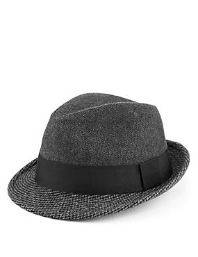 Herringbone Trilby Hat with Stormwear™