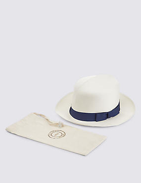 Handwoven Foldable Panama Hat, NATURAL, catlanding