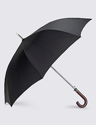 Classic Umbrella with Stormwear™ & Windtech™, BLACK, catlanding