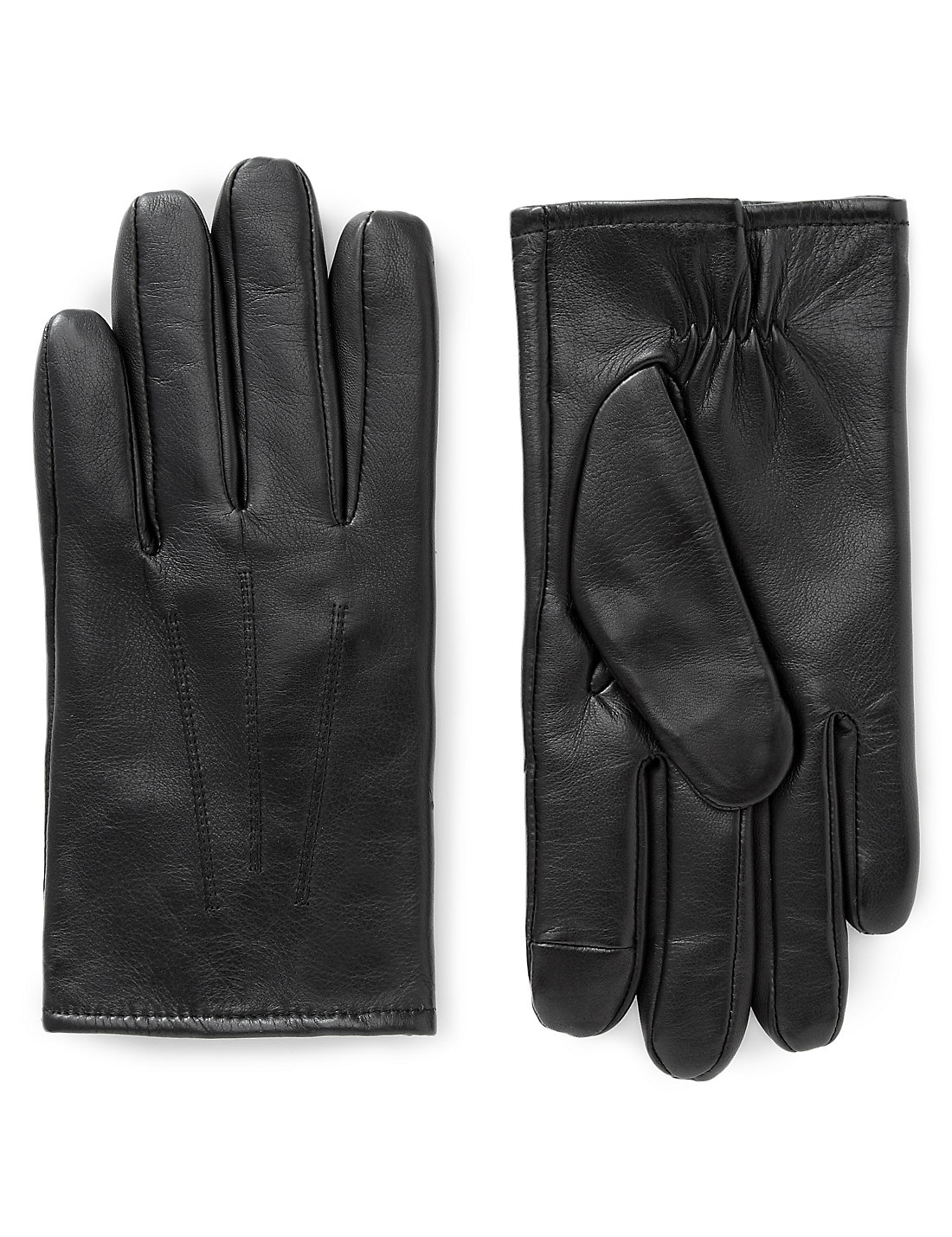 Mens leather gloves thinsulate - Leather Touchscreen Gloves With Thinsulate