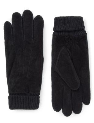 Замшевые перчатки Thinsulate™ с широкой трикотажной манжетой от Marks & Spencer