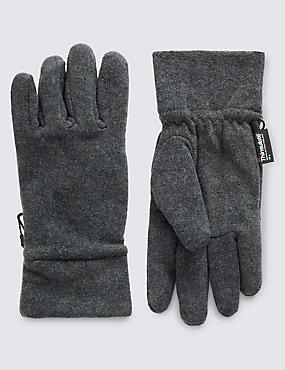 Fleece Gloves with Thinsulate, CHARCOAL, catlanding