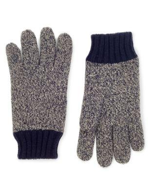 Вязаные перчатки Thinsulate™ с контрастными манжетами M&S Collection T092239M