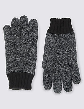 Gants Thinsulate™ en maille, NOIR ASSORTI, catlanding