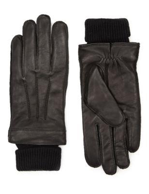 Перчатки из итальянской кожи с манжетами Thinsulate™