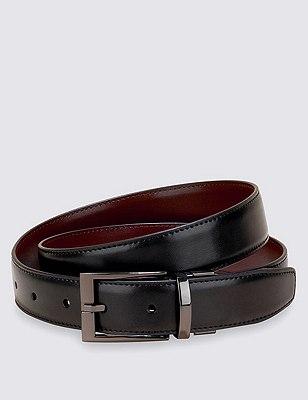 Gunmetal Reversible Belt, BLACK/BROWN, catlanding