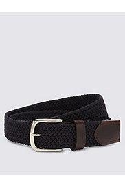 Stretch Web Belt, NAVY, catlanding