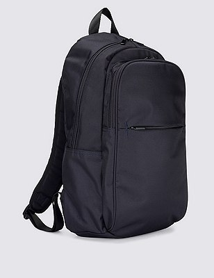 Multiple Compartment Rucksack, NAVY, catlanding