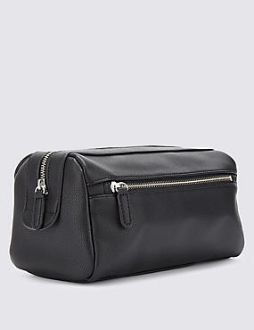 Faux Leather Washbag
