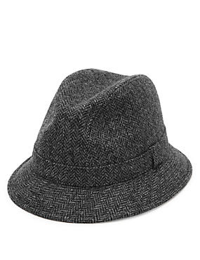 Pure Wool Broken Twill Hat with Stormwear™