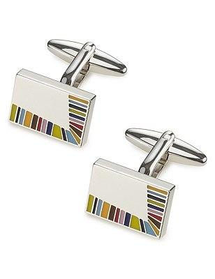 Edge Multi-Striped Cufflinks, MULTI, catlanding