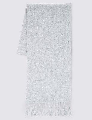 Gewebter Schal aus reinem Kaschmir, HELLGRAU, catlanding