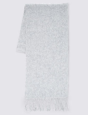 Pure Cashmere Woven Scarf, LIGHT GREY, catlanding