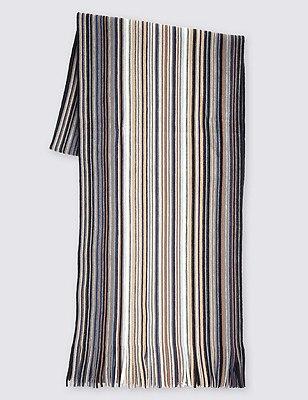 Multi Striped Scarf, NEUTRAL, catlanding
