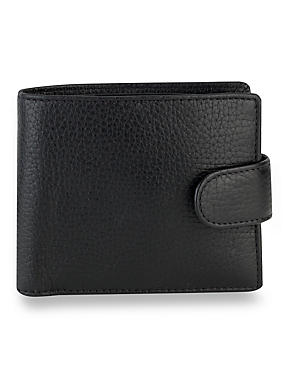 Luxury Leather Coin ID Tab Wallet with Datashield