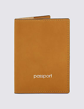 Leather Passport Cover Wallet