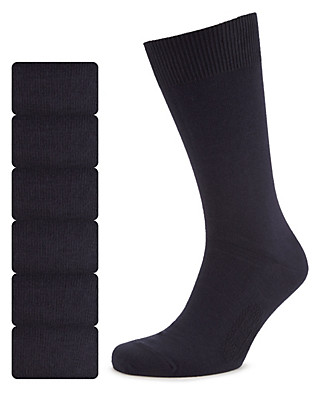 7 Pairs of Freshfeet™ Cotton Rich Socks Clothing