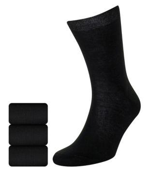 Носки из чистого хлопка (3 пары) от Marks & Spencer
