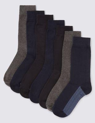 Мягкие хлопковые однотонные носки Freshfeet™ (7 пар)