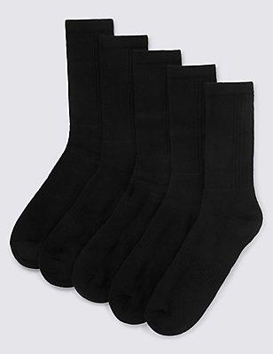 Cool & Fresh™– Lot de 5paires de chaussettes de sport en coton, NOIR, catlanding