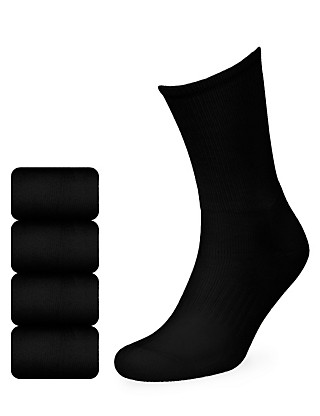 4 Pairs of Cotton Rich Sports Socks Clothing
