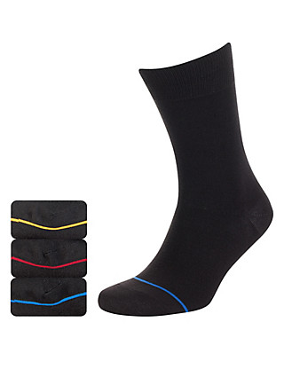 3 Pairs of Heatgen™ Striped Thermal Socks Clothing