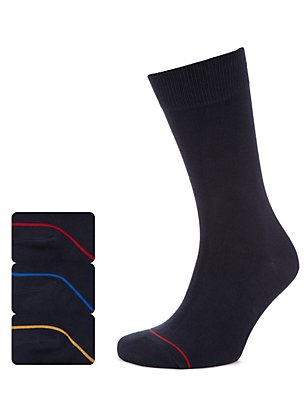 3 Pairs of Heatgen™ Thermal Socks, NAVY, catlanding