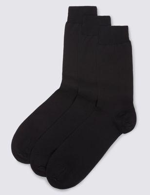 Люксовые однотонные носки из египетского хлопка (3 пары)
