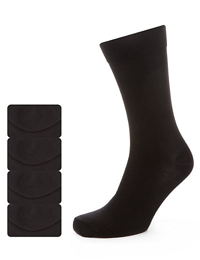 4 Pairs of Supima® Assorted Socks Clothing