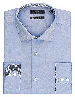 Supima® Cotton Tailored Fit Oxford Shirt, BLUE, catlanding