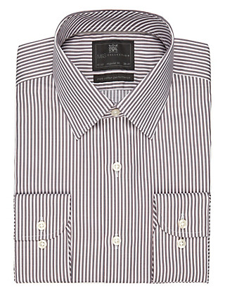 Performance Pure Cotton Non-Iron Striped Shirt Clothing