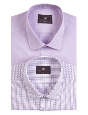 2 Pack Easy Care Short Sleeve Assorted Shirts M Amp S