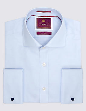 Pure Cotton Non-Iron Slim Fit Shirt, SKY BLUE, catlanding