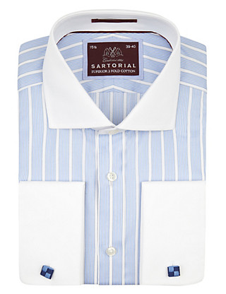 Pure Cotton Striped Winchester Shirt Clothing
