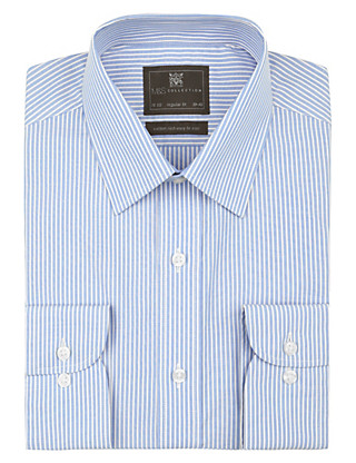 Cotton Rich Easy to Iron Striped Shirt Clothing