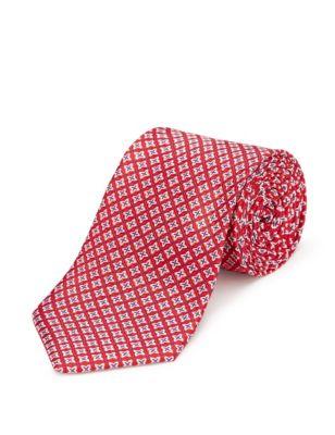 Текстурный принтованный галстук Machine Washable