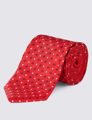 Текстурный галстук с мелким рисунком