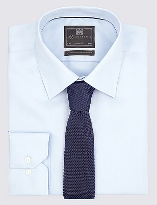 Knitted Tie, NAVY, catlanding
