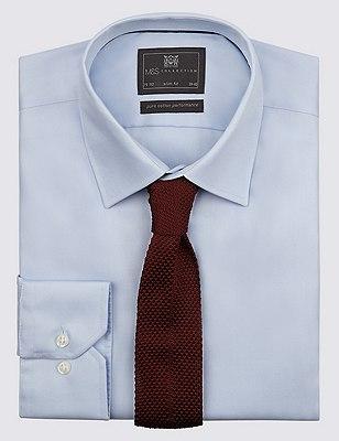Knitted Tie, BURGUNDY, catlanding