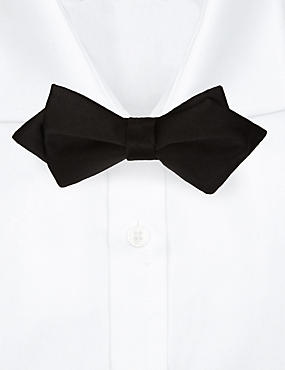 Skinny Fit Bow Tie, BLACK, catlanding