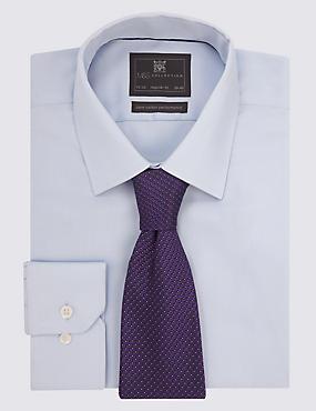 Pure Silk Micro Spotted Ties, PURPLE, catlanding