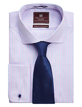 Pure Silk Micro Spotted Ties, NAVY, catlanding