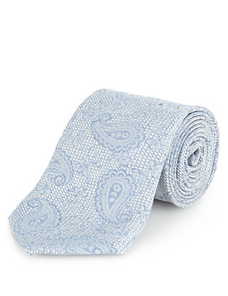 Italian Fabric Paisley Print Tie with Silk Clothing