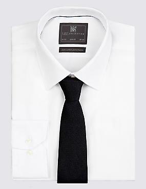 Puur zijden stropdas met structuurdessin, ZWART, catlanding
