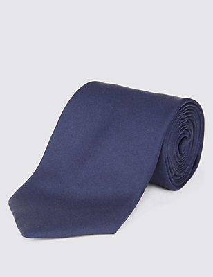 Pure Silk Tie, NAVY, catlanding