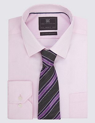 Pure Silk Textured Striped Tie, PURPLE MIX, catlanding
