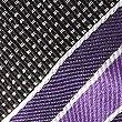 Pure Silk Textured Striped Tie, PURPLE MIX, swatch