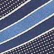 Pure Silk Textured Striped Tie, BLUE MIX, swatch