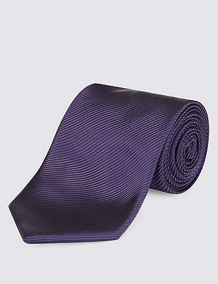 Plain Tie with Stain Resistance, DARK PURPLE, catlanding